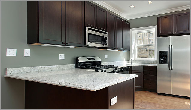 Keeping your kitchen white granite countertops clean backsplash granite countertop - White kitchen dark counters ...